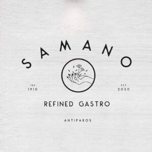 Samano Restaurant Antiparos by Chef Leonidas Koutsopoulos